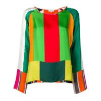 Pierre-Louis Mascia Blusa Color Block - Verde