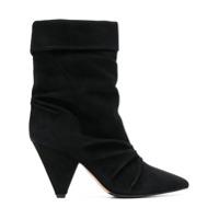 The Seller Ankle Boot De Couro - Preto