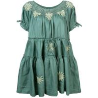 Innika Choo Vestido Com Bordado Floral - Verde