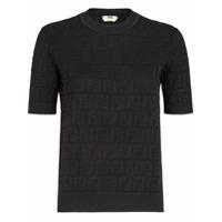 Fendi Camiseta Com Padronagem Ff - Preto