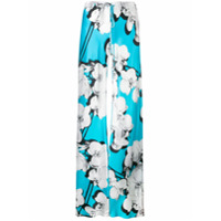 Roberto Cavalli Calça Pantalona Floral - Azul