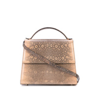 Hunting Season Medium Snake Effect Tote - Marrom