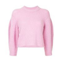 Tibi Suéter Cropped - Rosa
