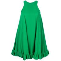 Msgm Vestido Sem Mangas - Verde