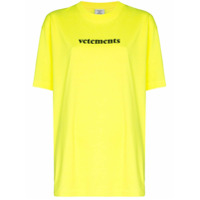 Vetements Camiseta Com Estampa De Logo Fluorescente - Amarelo