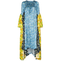 Vetements Vestido Midi Assimétrico Com Estampa Floral - Azul