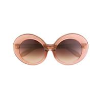 Linda Farrow Óculos De Sol Oversize Em Acetato - Rosa