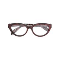 Alexander Mcqueen Eyewear Armação De Óculos Gatinho - Rosa