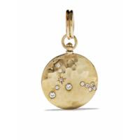 Feidt Paris Colar Com Medalhão Em De Ouro 9K Com Safira - Dourado