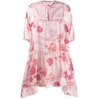 Giamba Vestido Com Recortes - Rosa