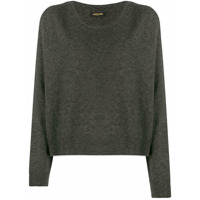 Max & Moi Loose-Fit Cashmere Sweater - Cinza