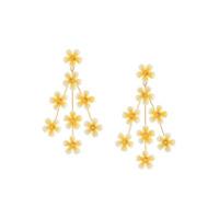 Jennifer Behr Par De Brincos Tallulah - Dourado