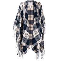 Woolrich Checked Shawl Cardigan - Azul