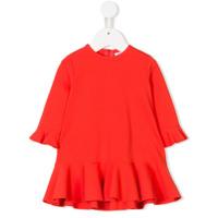 Il Gufo Vestido com babado - Vermelho