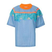 Kolor Camiseta Com Aplicação De Renda - Azul