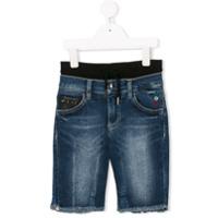 Philipp Plein Junior Shorts Jeans 'enough' - Azul