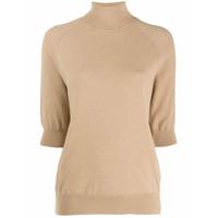 Mrz Short-Sleeve Roll Neck Sweater - Neutro
