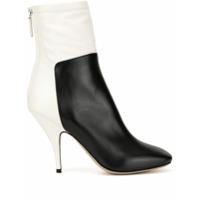 Petar Petrov Selma Two-Tone Ankle Boots - Branco