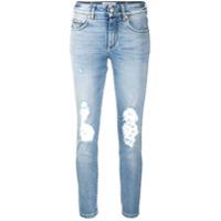 Givenchy Calça Jeans Skinny Com Cintura Média - Azul