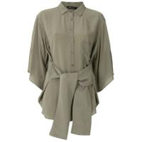Uma | Raquel Davidowicz Camisa 'general' De Seda - Verde