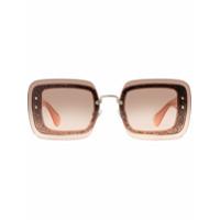 Miu Miu Eyewear Óculos De Sol 'reveal' Com Glitter - Rosa