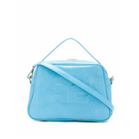 Courrèges Leather Logo Tote - Azul