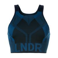 Lndr Logo Print Compression Cropped Top - Azul