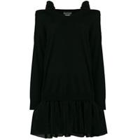 Boutique Moschino Vestido Com Recorte Vazado - Preto