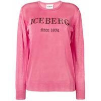 Iceberg Glitter Logo Sweater - Rosa