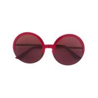 Marni Eyewear Óculos De Sol Redondo - Vermelho