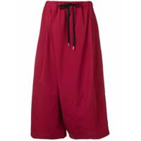 Marni Calça Pantalona Com Cordão De Ajuste - Vermelho