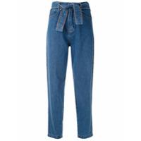 Amapô Calça Jeans Clochard Com Cinto - Azul