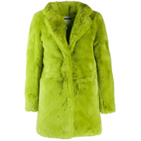 Apparis Casaco Midi Com Pelos - Verde