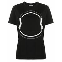 Moncler Camiseta Com Estampa De Logo - Preto