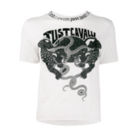 Just Cavalli Camiseta Com Estampa De Logo - Neutro