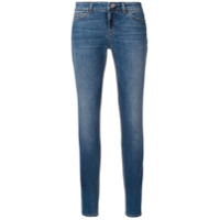 Dolce & Gabbana Calça Jeans Skinny Com Botão De Flor - Azul