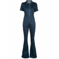 Weworewhat Macacão Jeans The Jumpsuit - Azul