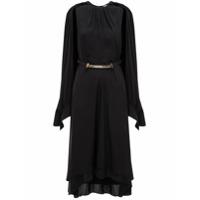 Jw Anderson Vestido Pelerine Com Sobreposição - Black