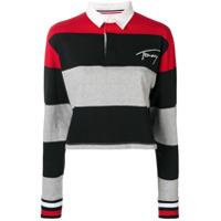 Tommy Jeans Camisa Polo Listrada - Preto