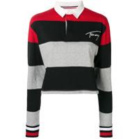 Tommy Jeans Striped Polo Shirt - Preto