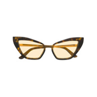 Dolce & Gabbana Eyewear Óculos De Sol Gatinho Com Efeito Tartaruga - Marrom