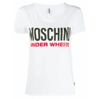 Moschino Camiseta Com Estampa De Logo - Branco