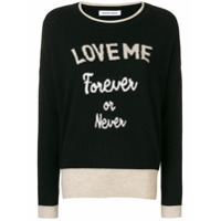 Quantum Courage Suéter 'love Me Forever' - Preto