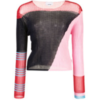 I-Am-Chen Blusa Color Block - Azul