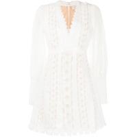 Zimmermann Vestido Super Eight Bordado - Branco