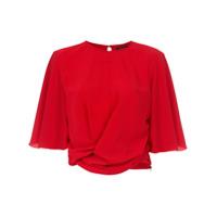 Corporeum Blusa Torção Frontal - Vermelho