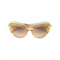 Pomellato Eyewear Óculos De Sol De Gatinho Oversized - Marrom
