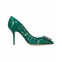 Dolce & Gabbana Scarpin Bellucci 90 Com Renda - Green