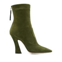 Fendi Ankle Boot Com Bico Quadrado - Verde
