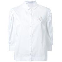 Simone Rocha Camisa Com Mangas Bufantes - Branco